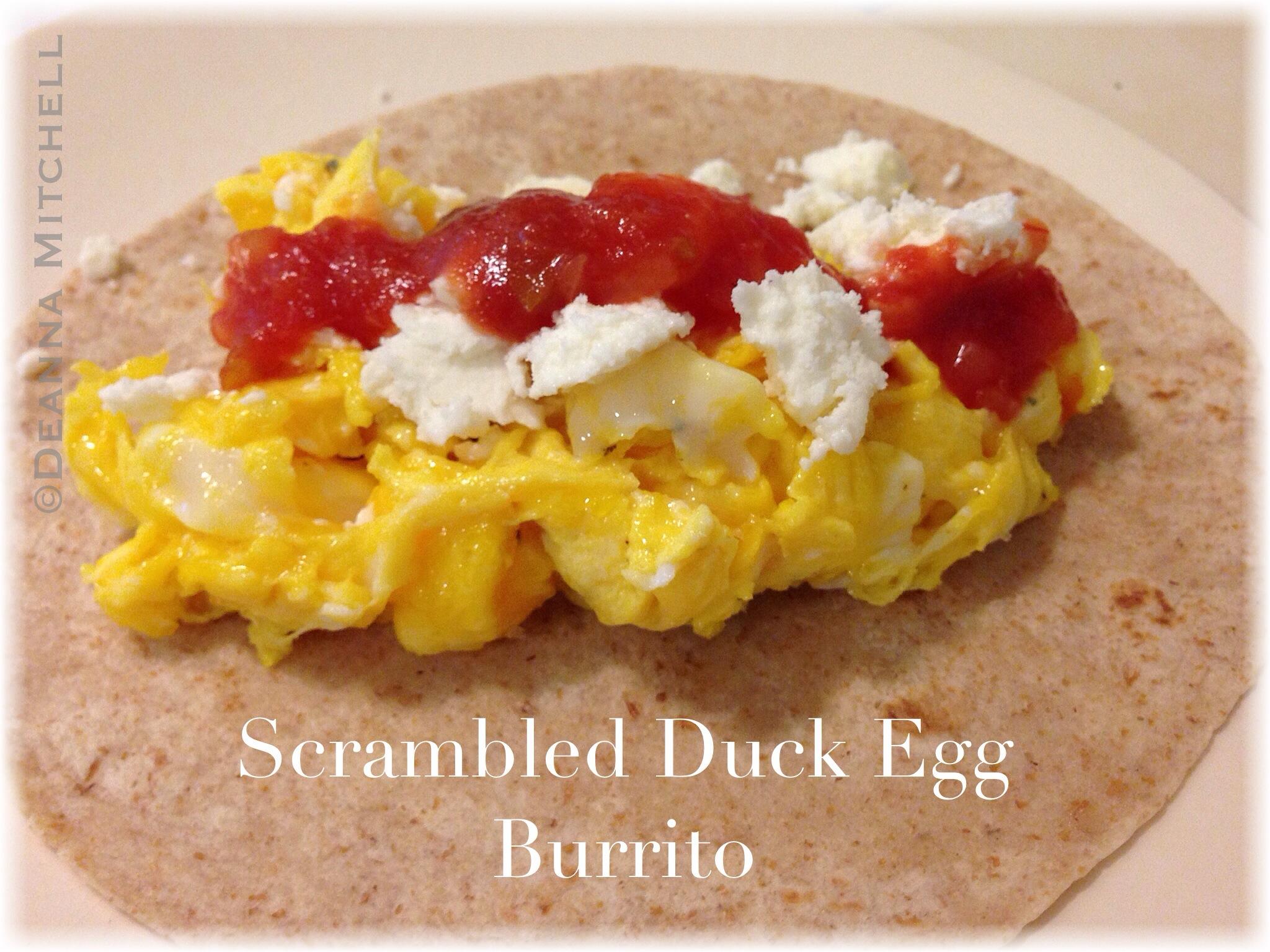 Scrambled Duck Egg Burrito « SOLE Food Kitchen